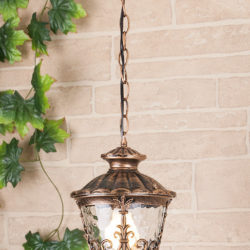 Diadema H черное золото уличный подвесной светильник IP44 GLYF-8046H