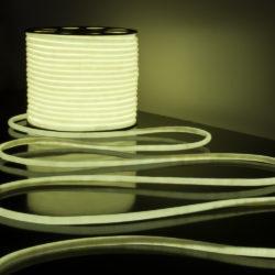 Светодиодный гибкий неон LS003 220V 9.6W 144Led 2835 IP67 круглый белый 6500К