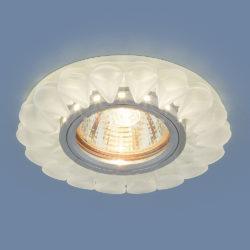 Встраиваемый точечный светильник с LED подсветкой 2210 MR16 Matt Ice матовый лед