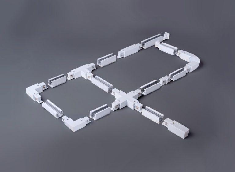 Трехфазный шинопровод (с вводом питания и заглушкой) TRL-1-3-100-BK 1 метр черный