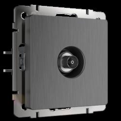 ТВ-розетка оконечная (графит рифленый) WL04-TV