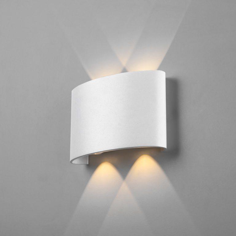 Twinky double белый уличный настенный светодиодный светильник 1555 TECHNO LED