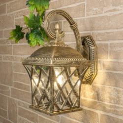 Уличный настенный светильник Cassiopeya D черное золото