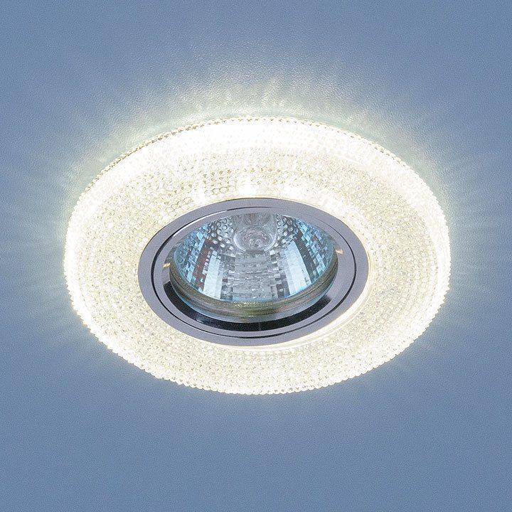 Встраиваемый точечный светильник со светодиодной подсветкой 2130 MR16 CL прозрачный