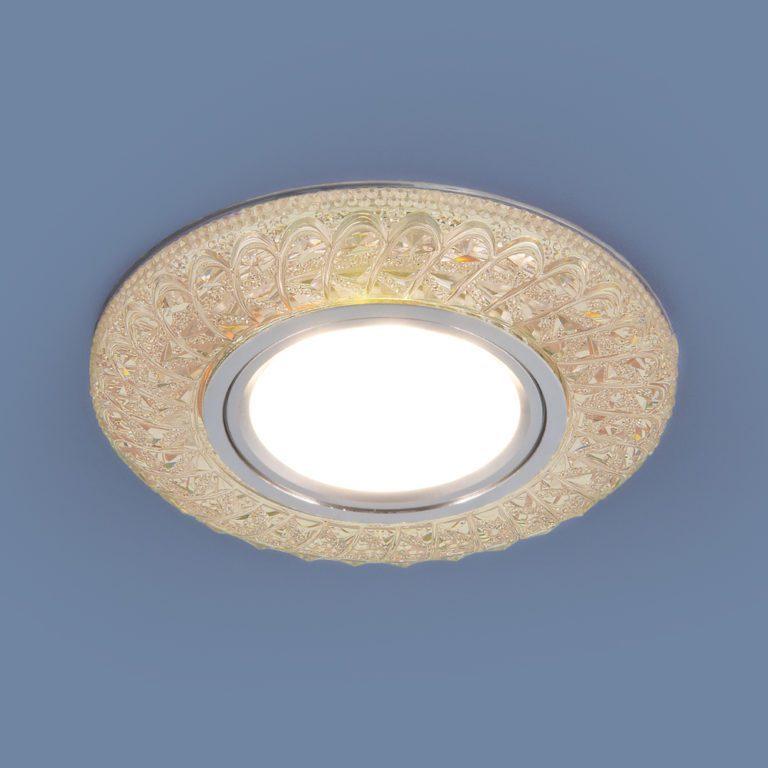 Встраиваемый точечный светильник со светодиодной подсветкой 2180 MR16 PK розовый