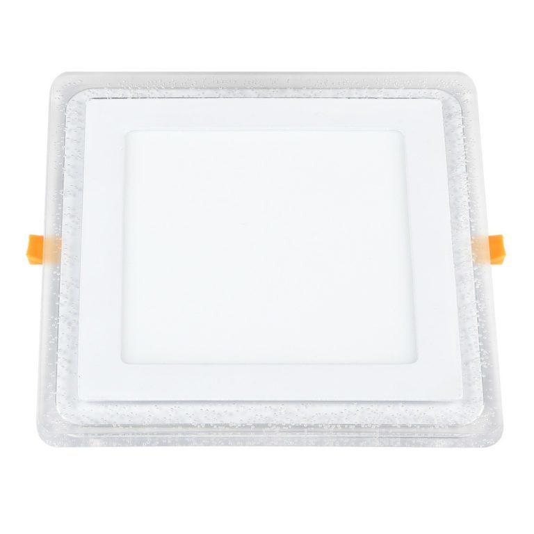 Встраиваемый потолочный светодиодный светильник DLS024 12+6W 4200K