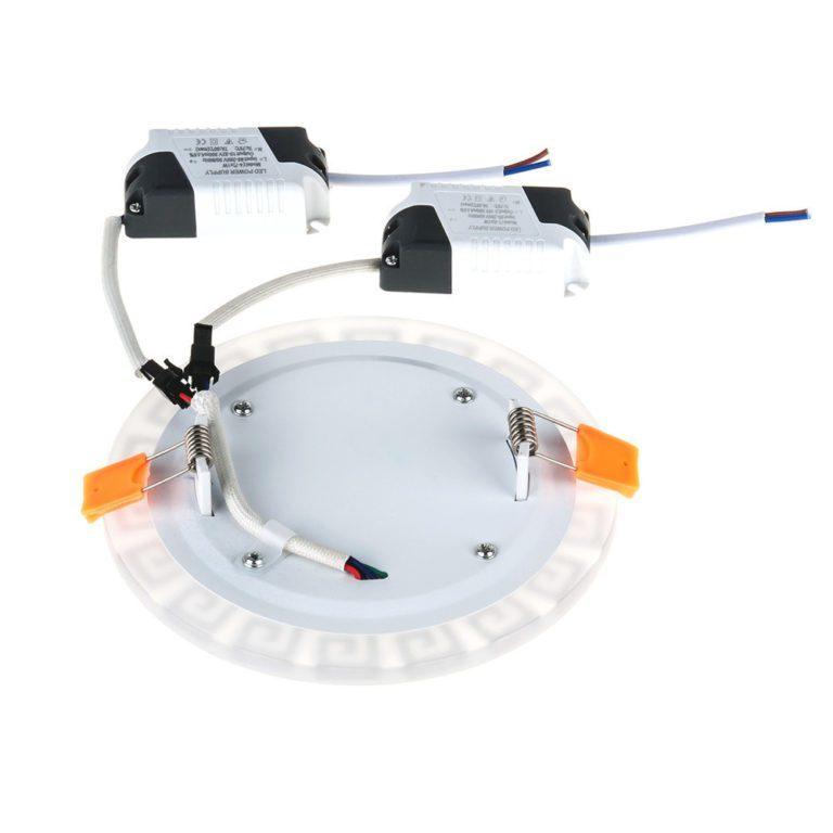 Встраиваемый потолочный светодиодный светильник DSS002 7+3W 4200K