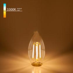 "Филаментная светодиодная лампа ""Свеча"" C35 9W 3300K E14 BLE1409"