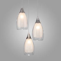 Подвесной светильник со стеклянными плафонами 50085/3 хром