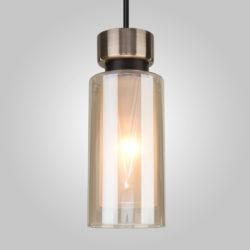 Подвесной светильник со стеклянным плафоном 50115/1 черный