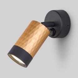 Настенный светильник с выключателем 20088/1 черный/золото