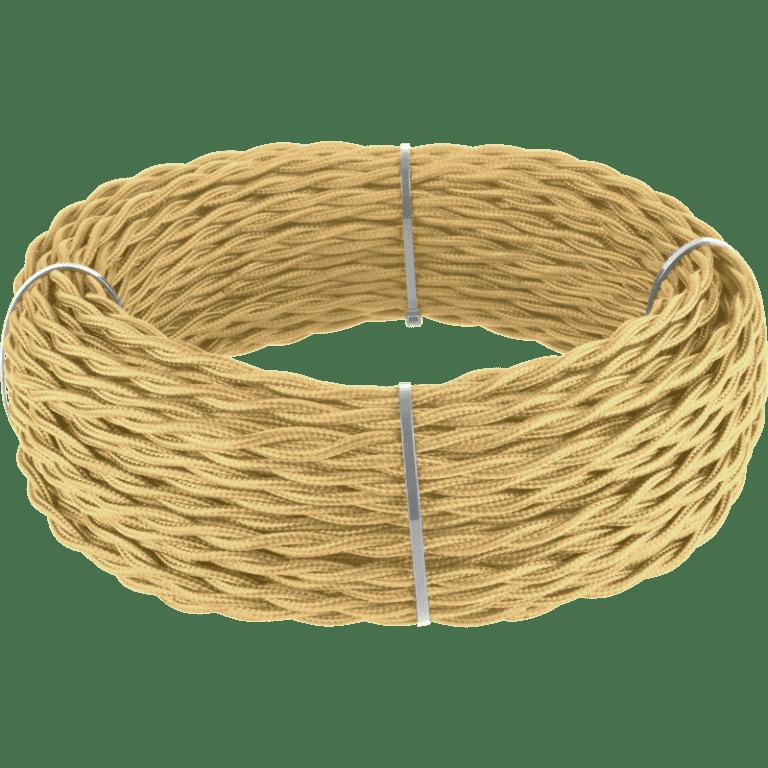 Ретро кабель витой 2х1,5 (золотой песок) 20 м под (заказ) Ретро кабель витой  2х1,5  (золотой песок)