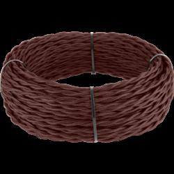 Ретро кабель витой 2х2,5 (итальянский орех) 20 м (под заказ) Ретро кабель витой  2х2,5  (итальянский орех)