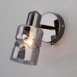 Настенный светильник с выключателем 20120/1 чёрный жемчуг