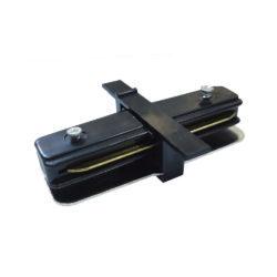 Коннектор прямой для однофазного встраиваемого шинопровода (черный) TRCM-1-I-BK