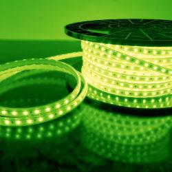 Светодиодная лента LS004 220V 4,8W 60Led 2835 IP65 зеленый, 50 м