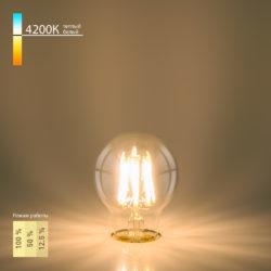Филаментная светодиодная лампа Dimmable A60 9W 4200K E27 BLE2715