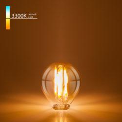 Филаментная светодиодная лампа G45 6W 3300K E14 тонированная BLE1408