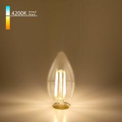 "Филаментная светодиодная лампа ""Свеча"" С35 7W 4200K E14 BLE1412"