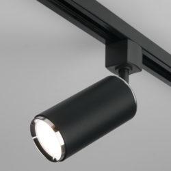 Трековый светильник для однофазного шинопровода Svit GU10 черный/хром MRL 1013