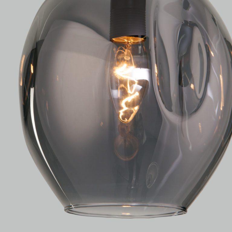 Подвесной светильник со стеклянным плафоном 50195/1 черный жемчуг