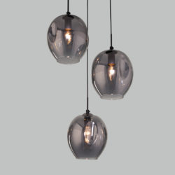 Подвесной светильник со стеклянными плафонами 50195/3 черный жемчуг