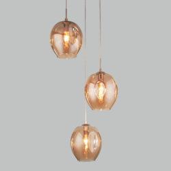 Подвесной светильник со стеклянными плафонами 50195/3 золото