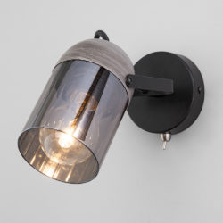 Настенный светильник с поворотным плафоном 20122/1 черный/тертый серый