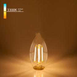 "Филаментная светодиодная лампа ""Свеча"" C35 7W 3300K E14 BLE1411"