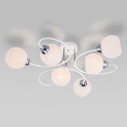 Потолочная люстра со стеклянными плафонами 30136/6 белый