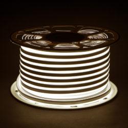 Светодиодный гибкий неон LS001 220V 9.6W 120Led 2835 IP67 4200K односторонний дневной белый