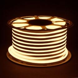 Светодиодный гибкий неон LS001 220V 9.6W 120Led 2835 IP67 3300K односторонний теплый белый
