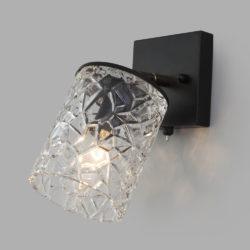Настенный светильник с выключателем 20095/1 черный/золото