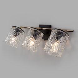 Настенный светильник с поворотными плафонами 20095/3 черный/золото