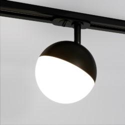 Трековый светодиодный светильник для однофазного шинопровода Glob GX53 Черный Glob GX53 Черный (MRL 1015) однофазный