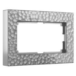 Рамка для двойной розетки (серебряный) W0082406