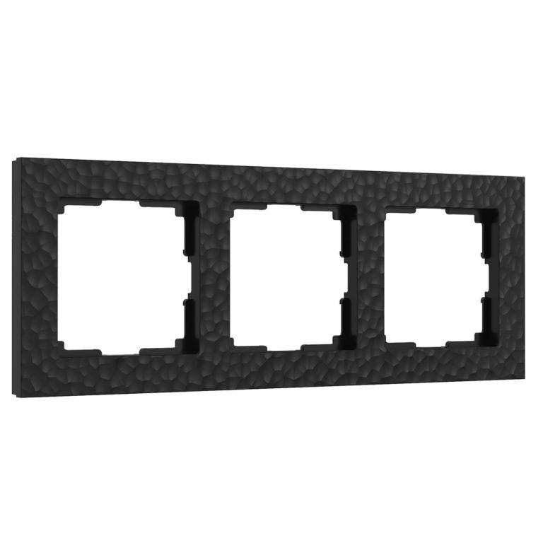 Рамка на 3 поста (черный) W0032408
