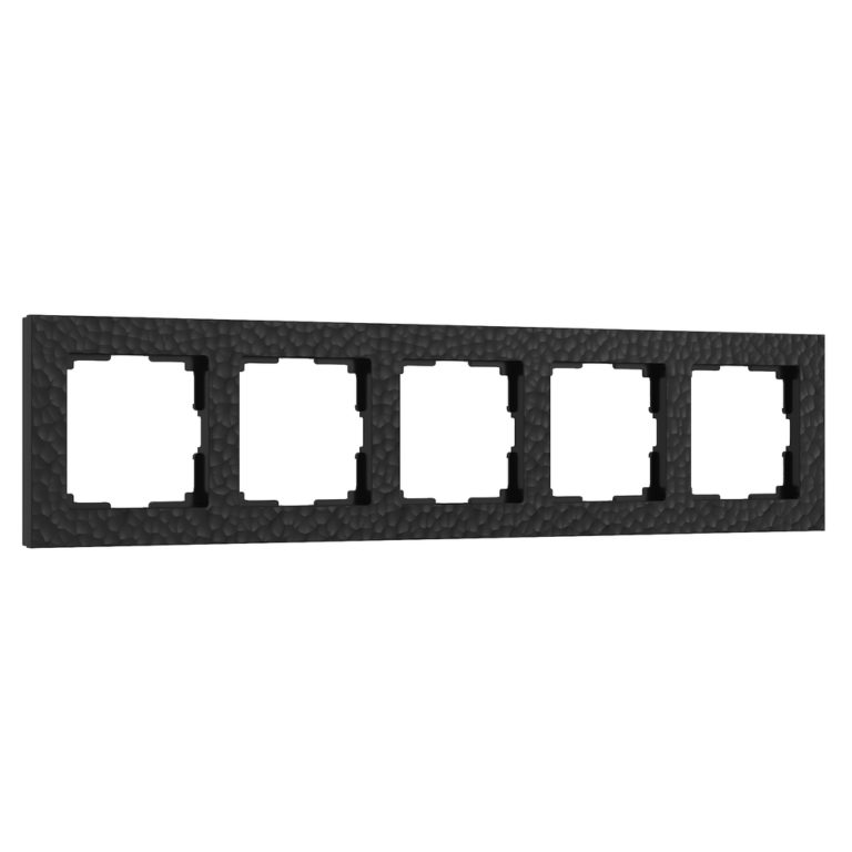 Рамка на 5 постов (черный) W0052408