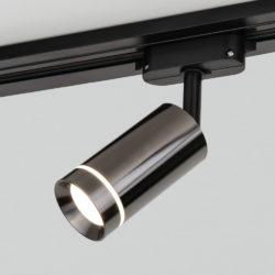 Трековый светодиодный светильник для однофазного шинопровода Glory Черный жемчуг 7W 4200K Glory Черный жемчуг 7W 4200K (LTB39) однофазный