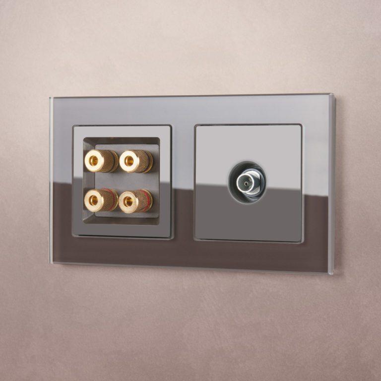 ТВ-розетка оконечная  (серо-коричневый) WL07-TV