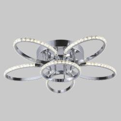 Потолочный светодиодный светильник с хрусталем 90098/6 хром