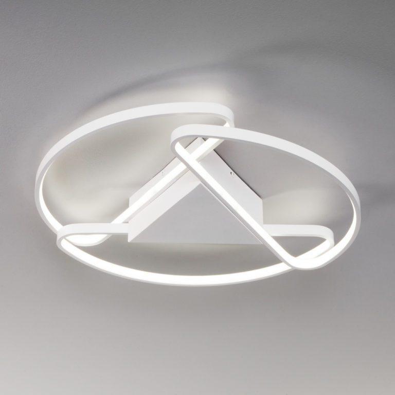 Потолочный светодиодный светильник с пультом управления 90232/3 белый