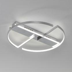 Потолочный светодиодный светильник с пультом управления 90233/2 хром