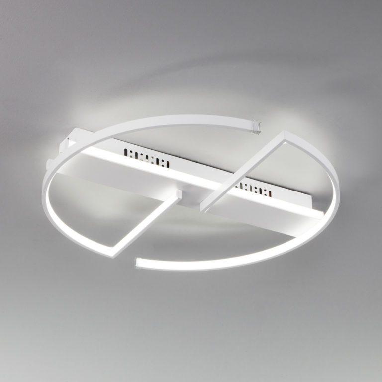 Потолочный светодиодный светильник с пультом управления 90233/2 белый