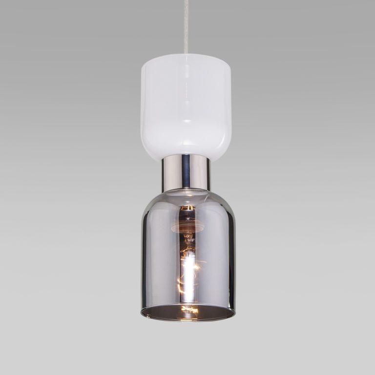 Подвесной светильник со стеклянным плафоном 50118/1 никель