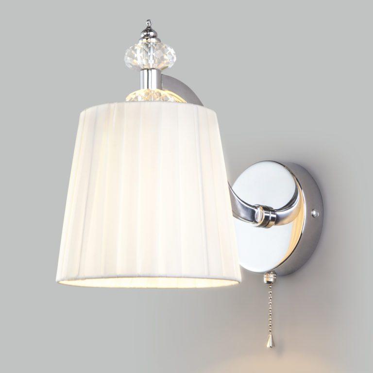 Классический настенный светильник 60122/1 хром
