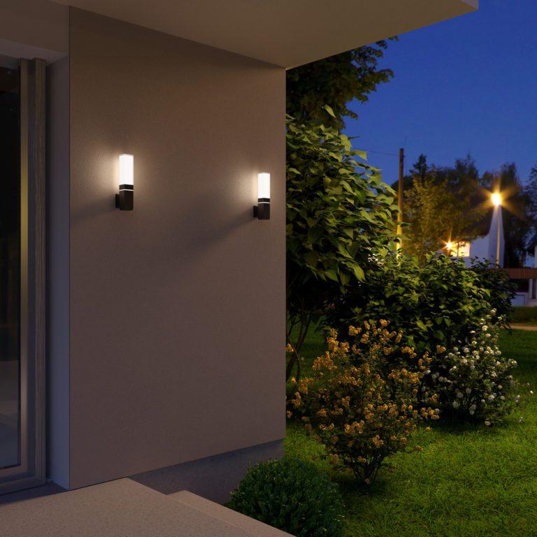 Уличный настенный светодиодный светильник Чёрный IP54