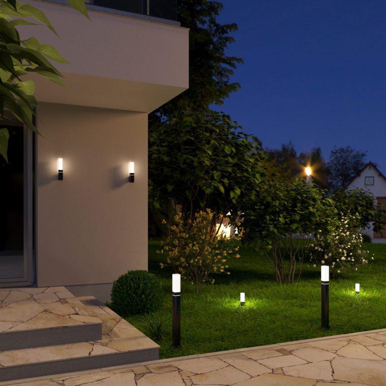 Уличный настенный светодиодный светильник Серый IP54