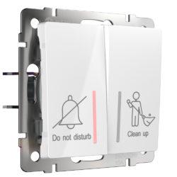 Выключатель двухклавишный для отелей (белый) W1120801