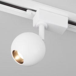 Трековый светодиодный светильник для однофазного шинопровода Ball Белый 8W 4200K LTB76